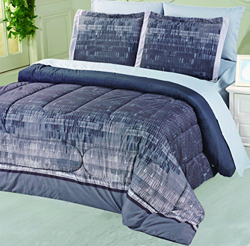 Divatex Home Fashions Brushed Ombre Microfiber Bed in The Bag, Queen (Bed In A Bag Queen Ombre)