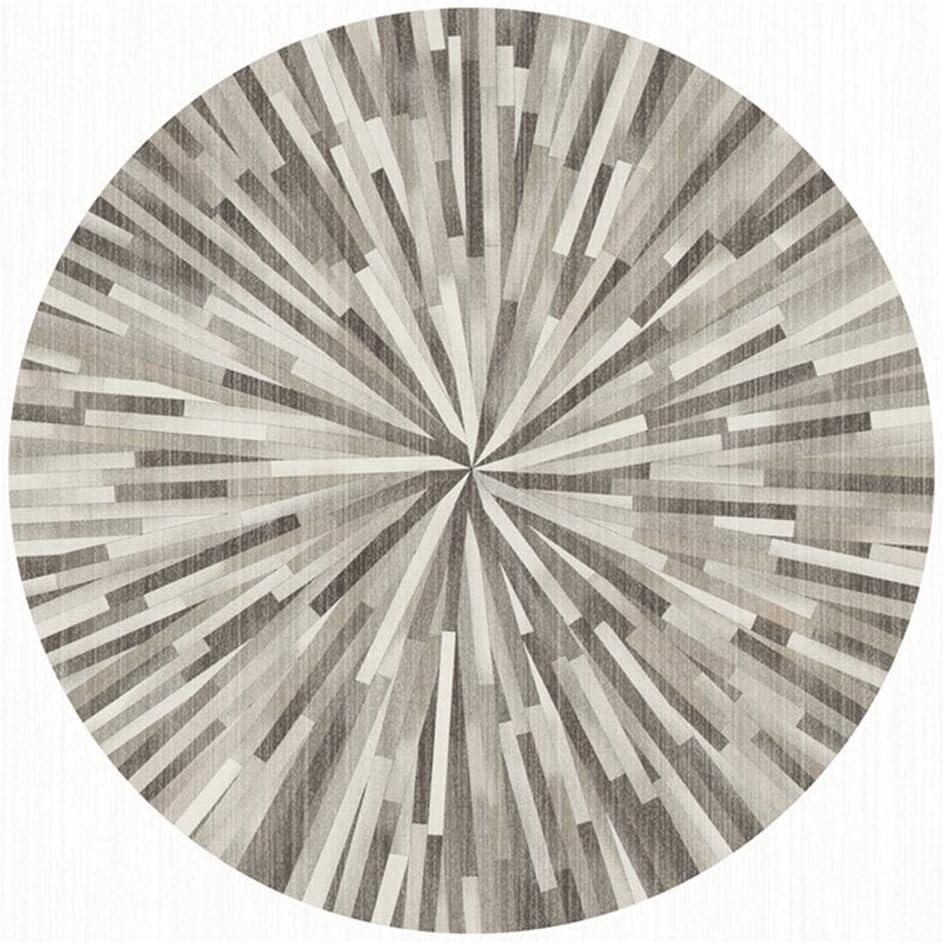 Multicolore LYJT-MR Tappeto A Pelo Corto per Salotto Soggiorno Modern Tappeti per Arredamento Antiscivolo Lavabili Ornamenti Rotondo