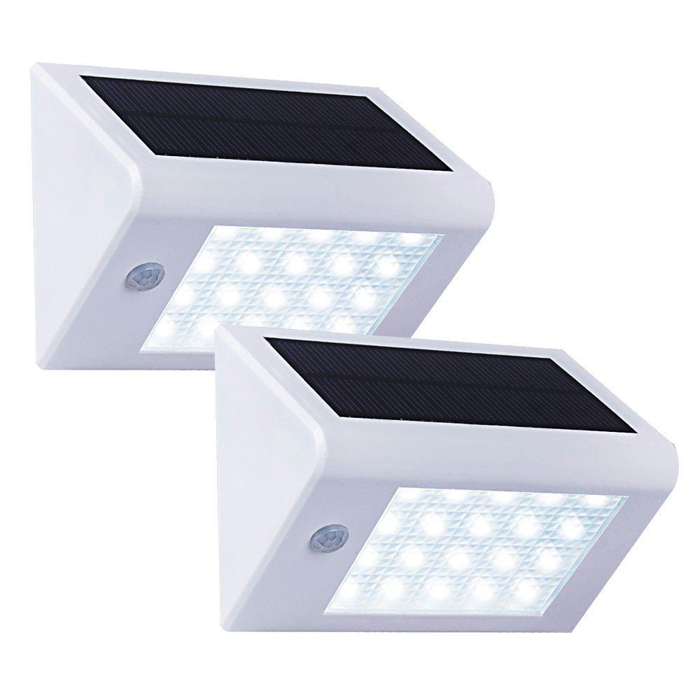 ソーラー20 LED 壁掛照明 白 T-SUN B01LL08VQW 14740 White(6000K)-2 Pack White(6000K)2 Pack