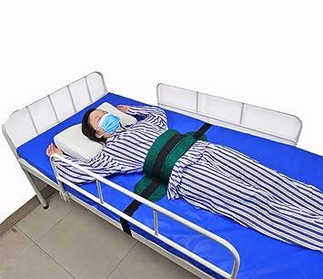 Arnés de seguridad de la cama, cinturón ajustable silla de ruedas, suave cama cojín acolchado para ancianos y pacientes cuida: Amazon.es: Belleza
