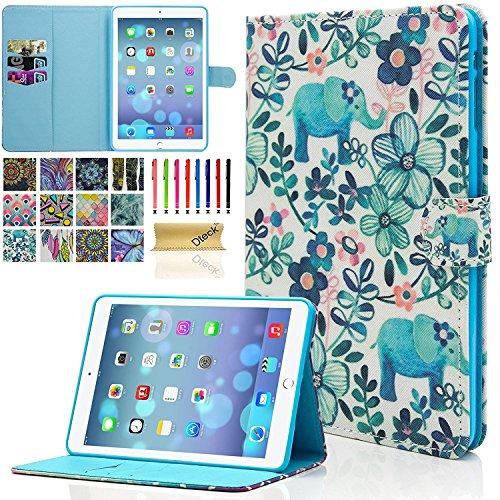 iPad Mini Case, iPad Mini 2/3 Case, Dteck Slim Fit Folio Stand Leather Case with Auto Sleep/Wake Magnetic Wallet Smart Cover for Apple iPad Mini 1/2/3 (Elephant Tribe)