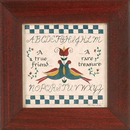 (A True Friend - A Rare Treasure - Pennsylvania German Fraktur)