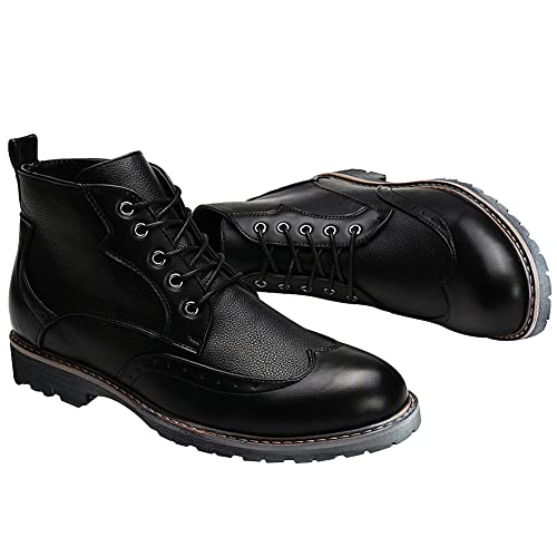 Jamron Men's Stylish Brogue Style Ankle Boots Smart Block Heel Lace Up  Derby Boots: Amazon.co.uk: Shoes & Bags