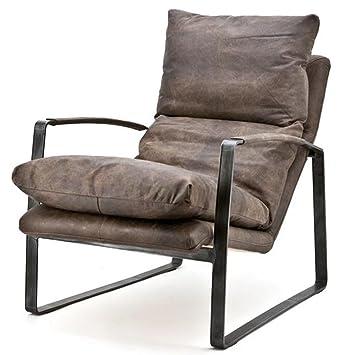 Armlehnensessel Lex Leder Vintage Braun Relaxsessel Fernsehsessel