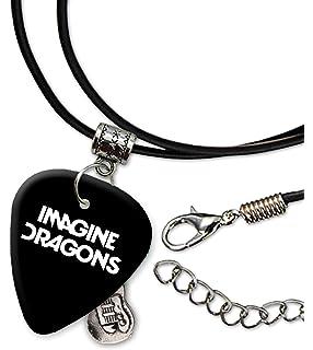 Imagine Dragons Band Logo Collar de cordón de púa de guitarra (H)