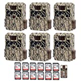 Browning Trail Cameras (6) Strike Force Extreme 16 MP Game Cameras + 12 16GB SD Cards + Focus USB Reader