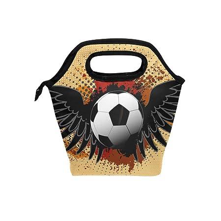 Mnsruu Bolsa de almuerzo aislada para fútbol, fútbol, fiambrera ...
