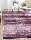 Unique Loom Del Mar Collection Violet 5 x 8 Area Rug (5' x 8')