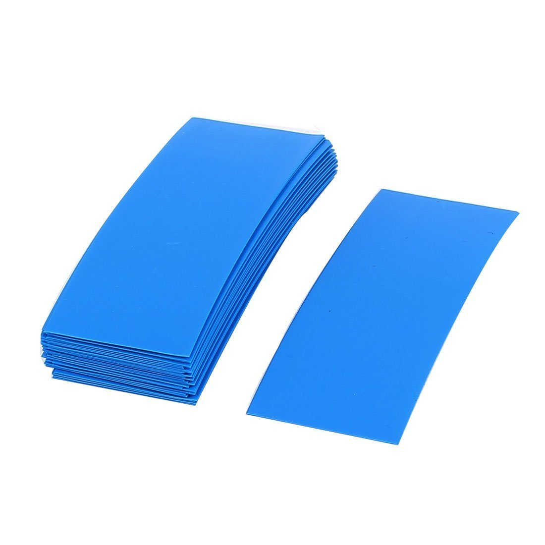 sourcingmap 30pcs 72mm x 18.5mm PVC Heat Shrink Tubing Blue for 1 x 18650 Battery a16012500ux1010