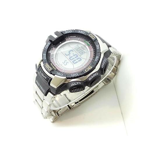 1791e8df0820 Reloj Casio Pro Trek PRG-270D-7ER Solar acero quandrante negro correa  acero  Amazon.es  Relojes