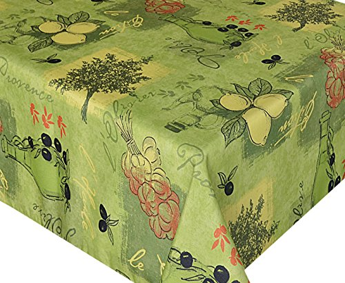 58 x 78 Oblong Round Sorbet Green Provence Print Indoor/Outdoor Fabric (Summer Sorbet)