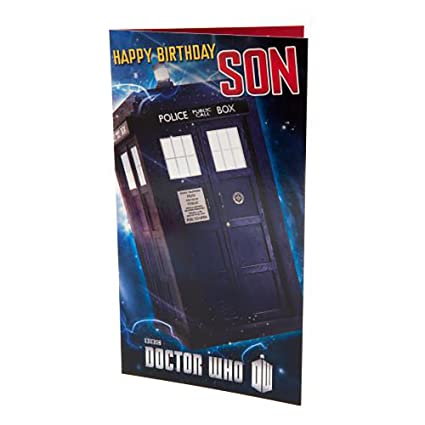 Amazon Doctor Who Birthday Card Son Sports Outdoors