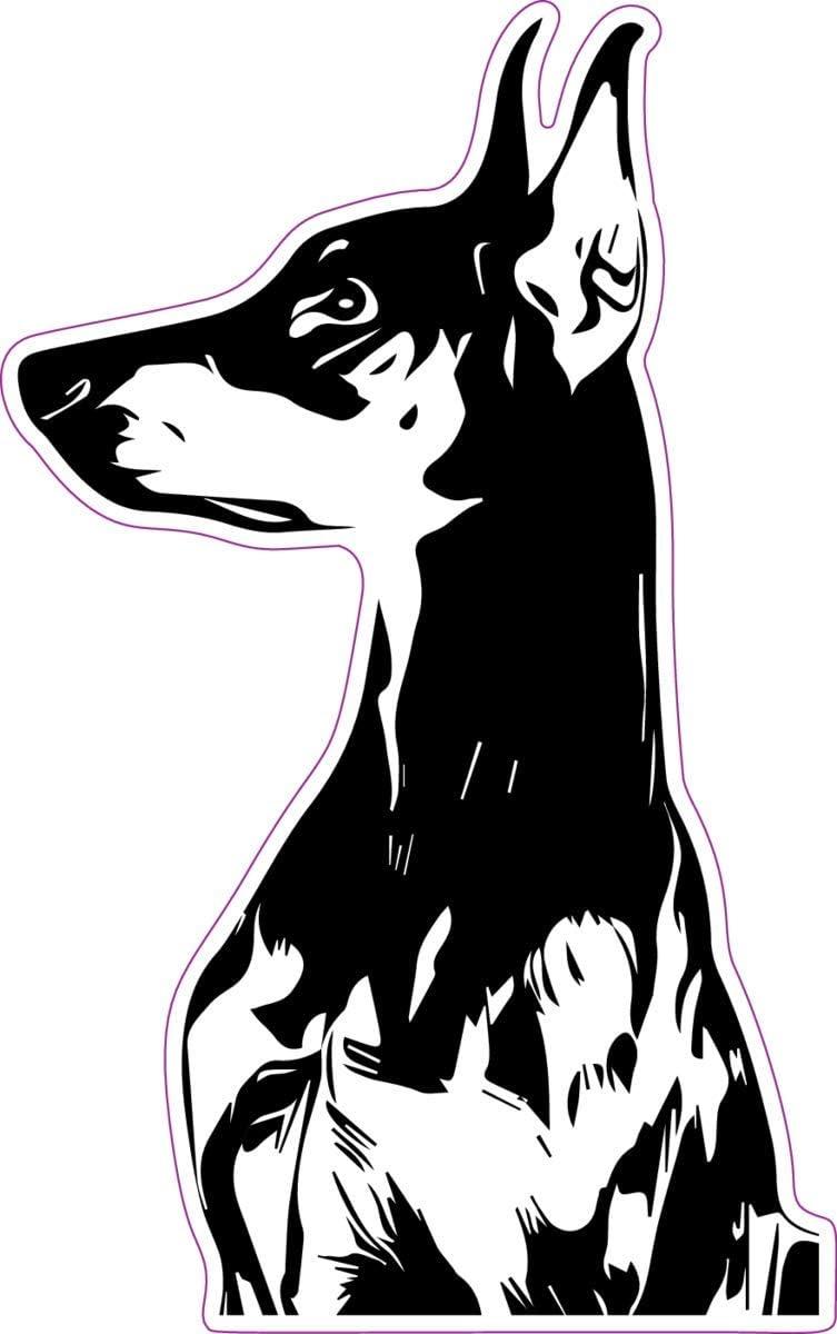 /'/'SIZES/'/' Doberman Pinscher Dog Mascot Car Bumper Sticker Decal