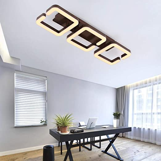 Amazon.com: Ceiling Lamp Led Chandelier Metal Acrylic Rectangle Ceiling Light Creative Indoor Decorative Lighting Fixture for Parlor Bedchamber Aisle ...