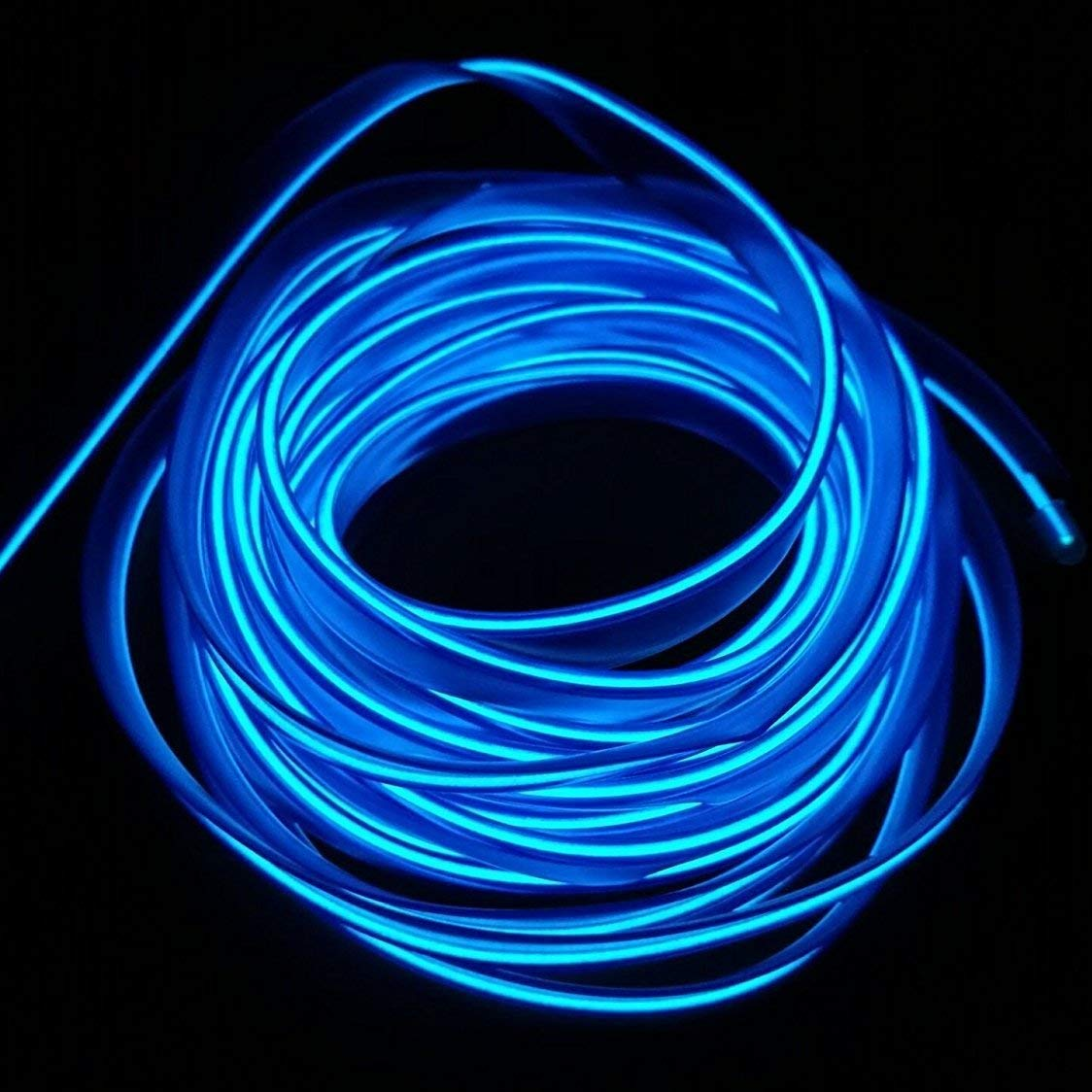 USB Neon EL Wire for Car Interior Bike Cosplay Festival Decoration LED Glowing Electroluminescent Wire Light Cold Lights with Drive Light Lamp Glow String Strip 12V 1M, Green