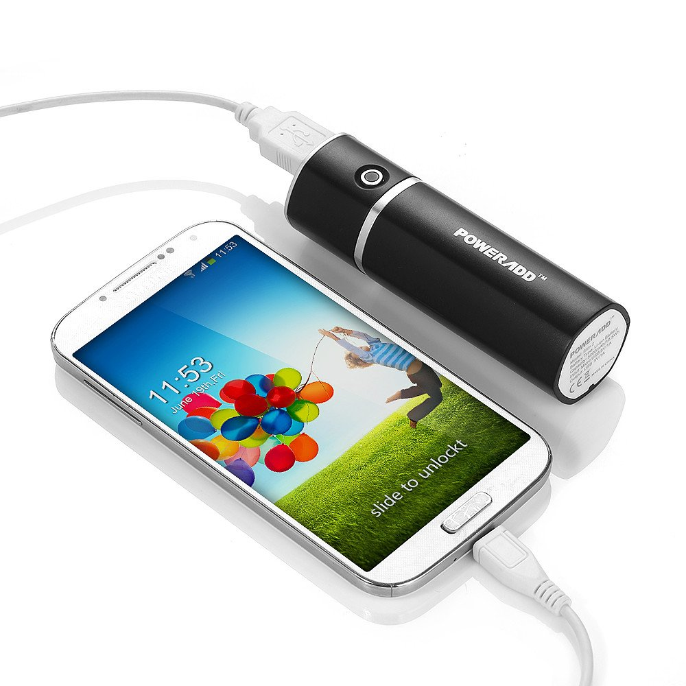 Poweradd Slim 2 Externer Akku 5000mAh Power Bank Handy Ladegerät mit [MFI] Lightning und Micro USB Kabel und Ladekabel für iPhone X, iPhone 8, iPhone 7, iPhone 6,