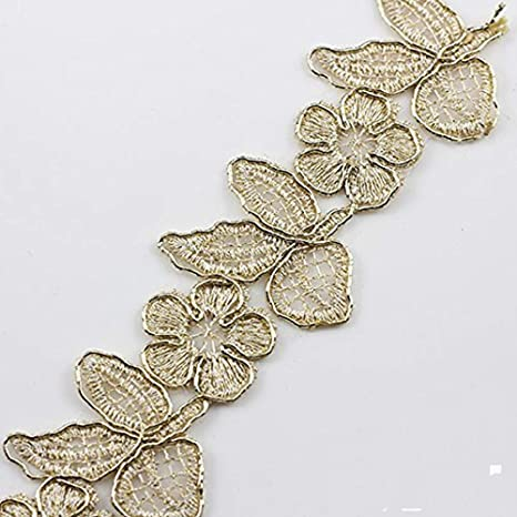 Flower Venise Lace Trim Embroidered Applique Fabric Embellishment Sewing