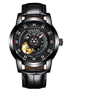 AILANG luxury brand men fashion personality Tourbillon automatic mechanical waterproof watch