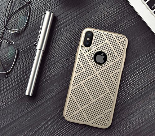 Nillkin Heat Dissipation Hard PC Matte Air Case Back Cover for Apple iPhone X  GOLD