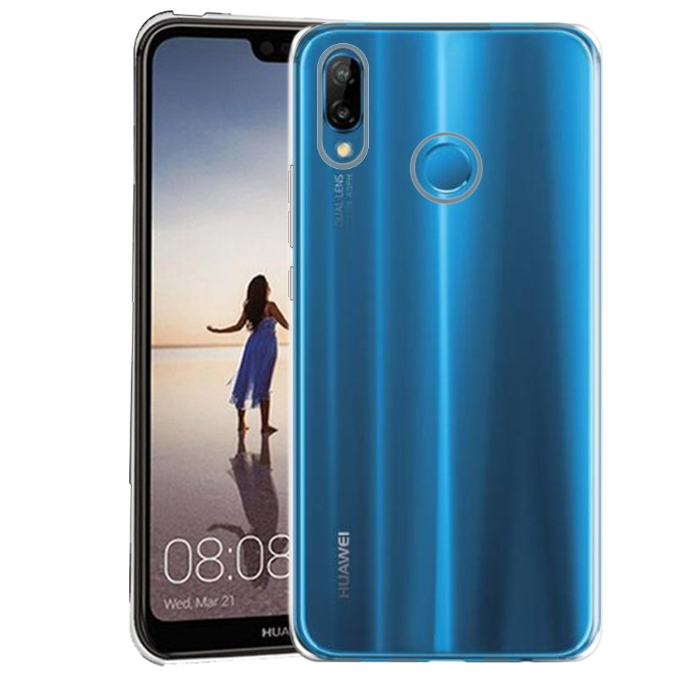 Huawei p20 lite, COOKAR protective case in ultra-thin soft silicone. Transparent case for Huawei p20 lite. Cover for Huawei p20 lite (transparent)