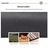 Genuine Leather Contrast Color Edge Paint Women