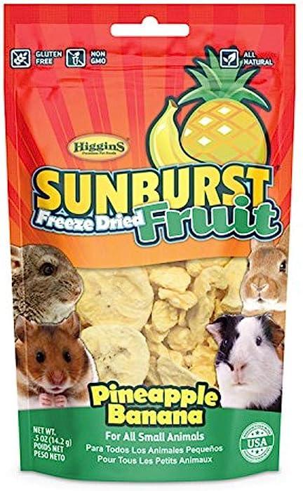 Higgins Sunburst Pineapple Banana, 0.5 Ounces, Freeze-Dried Fruit for All Small Animals