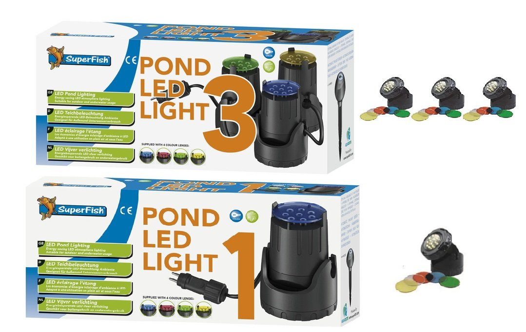 Superfish Teichscheinwerfer LED Licht 1er Set: Amazon.de: Haustier
