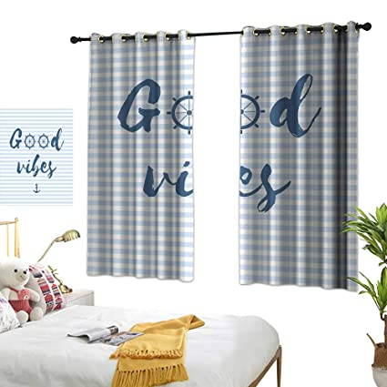 Amazon.com: Living Room Curtains Good Vibes,Nautical Design ...