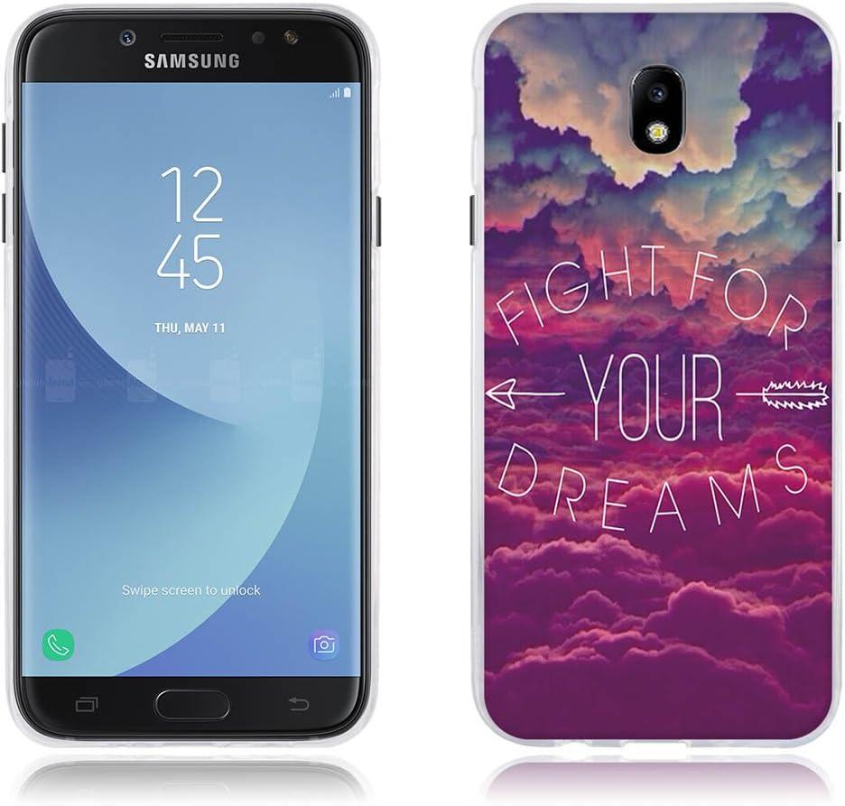 Funda Carcasa para Samsung Galaxy J7(2017) J730F/J7pro,Carcasa de TPU,FUBAODA,Dibujo de Cielo Ensueño,Carcasa Protectora de Goma de Altisima Calidad para Samsung Galaxy J7(2017) J730F/J7pro(5.5