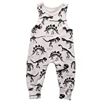 BiggerStore Summer Baby Boy Girl Animal Watermelon Printed Sleeveless Romper One-Piece Bodysuit Jumpsuit Outfits
