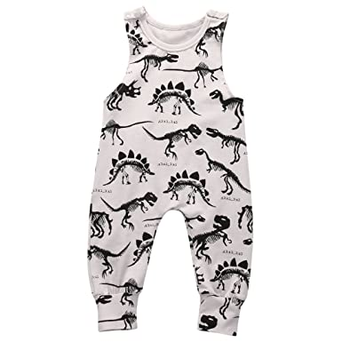 f98e4d5d7 Amazon.com: Lahyra Newborn Baby Boy Animal Print Romper Sleeveless Bodyusit  Jumpsuit Outfits: Clothing