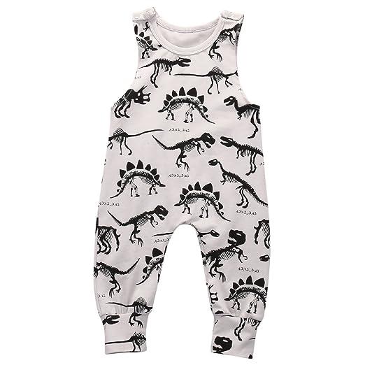 8a83ea4e6d80 Amazon.com  Summer Baby Boy Girl Animal Printed Sleeveless Romper ...