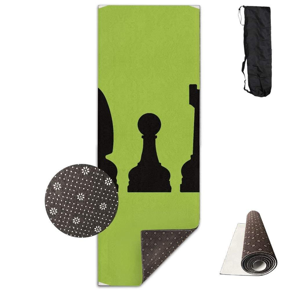 Cool Chess Checkmate Deluxe,Yoga Mat Aerobic Exercise Pilates Anti-Slip Gymnastics Mats