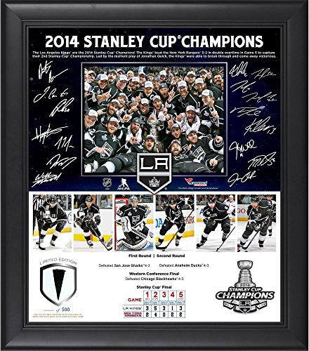 Los Angeles Kings 2014 Stanley Cup Champions Framed 15'' x 17'' Collage with Piece of Game-Used Puck-Limited Edition of 500 - Fanatics Authentic Certified