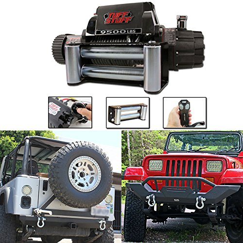Tuff Stuff Jeep TJ YJ Front Bumper Rear Bumper and 9,500lb Winch Combo