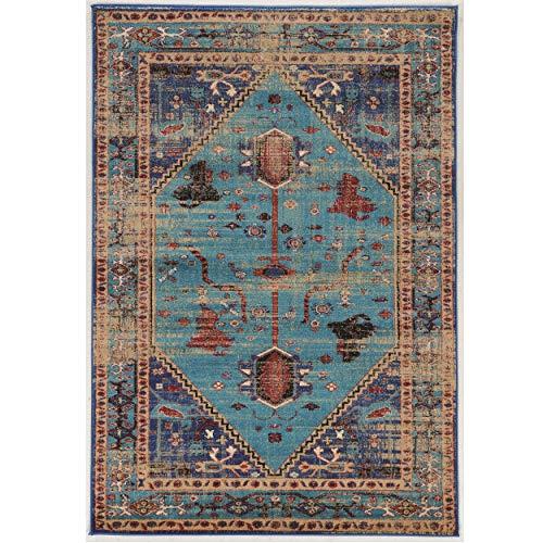 - Linon Collection Serape Heriz Turquoise/Multi 2x3, 2'X3', Blue