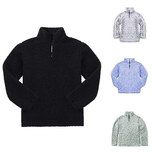 JiaMeng Warm Fluffy Solid Casual Zip Up Sudadera Jerseys Outwear con Capucha Chaquetas Tops Chaqueta Abrigo Ropa Jacket: Amazon.es: Ropa y accesorios