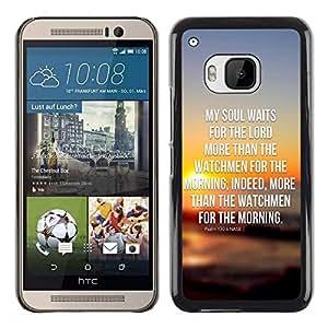 Be Good Phone Accessory // Dura Cáscara cubierta Protectora Caso Carcasa Funda de Protección para HTC One M9 // BIBLE My Soul Waits For The Lord - Psalm 130:6
