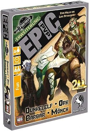 Pegasus Juegos 17282 g – Ampliación de la Epic PVP 1: dunkelelf, Orco, Bárbaro y Mönchengladbach, Juego de Cartas: Amazon.es: Juguetes y juegos