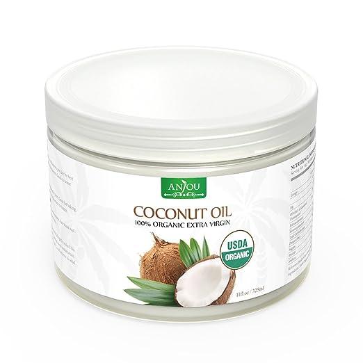 86 opinioni per Anjou Olio di Cocco, Coconut Oil Organico, Extra Vergine da Sri Lanka, Non