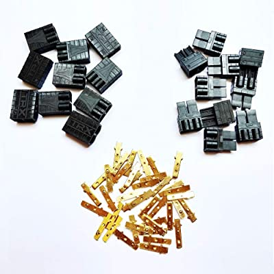 WST Traxxas TRX Plug Connectors for RC LiPo NiMH Battery Male and Female (10 Pairs): Toys & Games