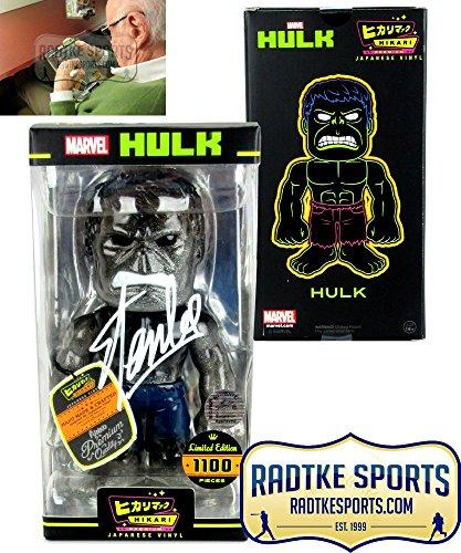 Stan Lee Autographed/Signed Hikari Marvel Glitter Hulk Japanese Vinyl Figure LE 1100