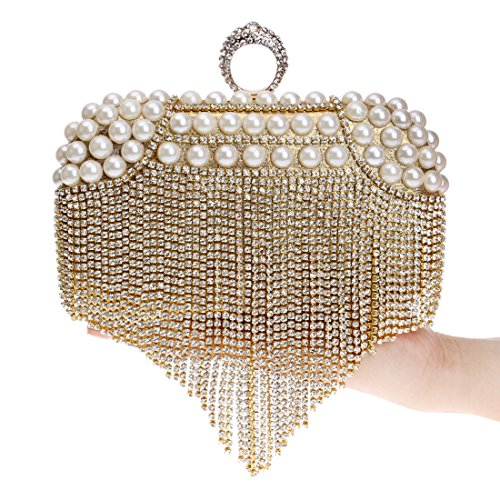 American Bag Models Bag Messenger Fashion Bride bag Dress evening Bag Tassel Banquet And Gold Fly New Wild Silver European Clutch Evening Color q7tgaO