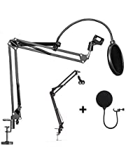 OZSTOCK Microphone Suspension Boom Arm Desktop Stand Mic Holder Mount