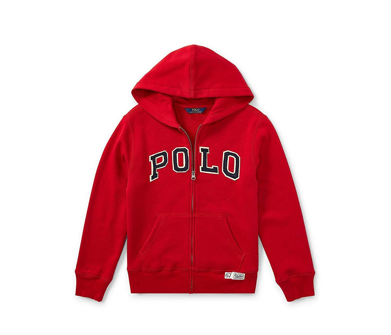 Ralph Lauren Polo Kids Fullzip Hoodie, Martin Red, 4