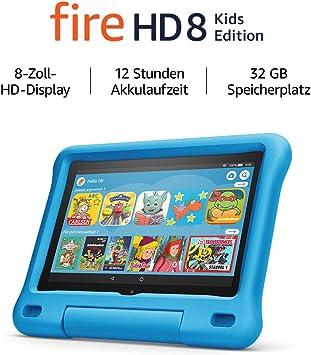 Fire Hd 8 Kids Edition Tablet 8 Zoll Hd Display 32 Gb Blaue Kindgerechte Hülle Amazon Devices