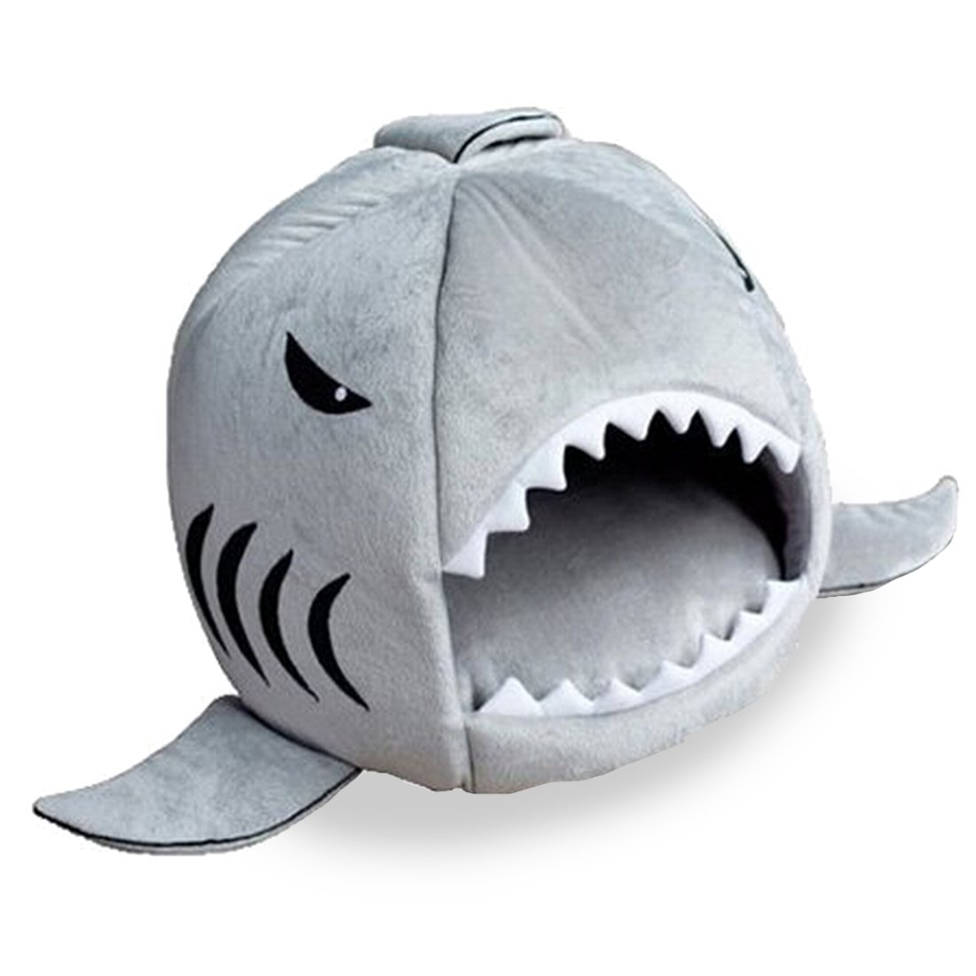 Shark Bed for Small Cat Dog Cave Bed Removable Cushion,waterproof Bottom Most Lovely Pet House Gift for Pet S, Blue
