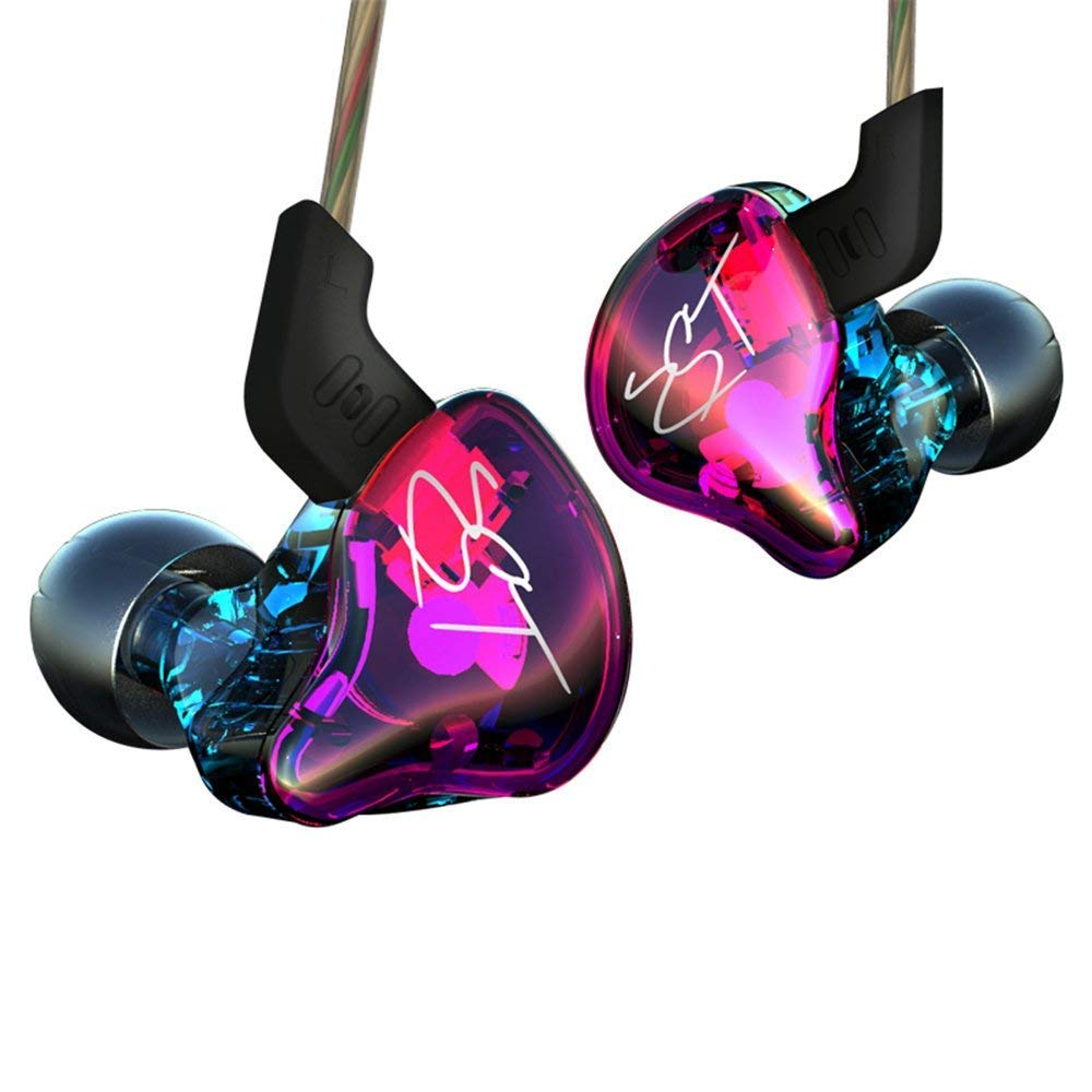 Easy KZ ZST Colorful Hybrid Banlance Armature with Dynamic In-ear Earphone 1BA+1DD Hifi Headset (colorful ZST NOMIC) Best Cheap Earbuds