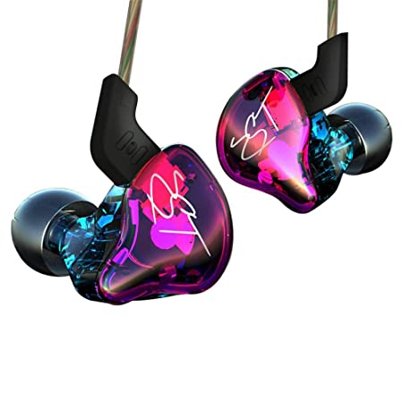Easy KZ ZST Colorful Hybrid Banlance Armature with Dynamic In-ear Earphone 1BA 1DD Hifi Headset colorful ZST NOMIC