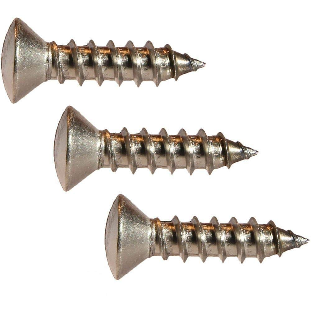 """Oval Head Slotted Wood Screw Stainless Steel #6 x 1-1//4/"""" Qty 25"""